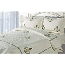 Casual-Living-Pineapple-Embroidered-Quilt-and-Sham-Set Pineapple Bedding Sets and Duvet Covers
