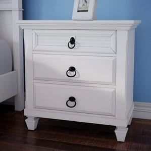 Centreville3DrawerNightstand Beach and Coastal Bedroom Furniture