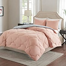 Comfort-Spaces-–-Vixie-Reversible-Down-Alternative-Comforter-Mini-Set Coral Bedding Sets and Comforters