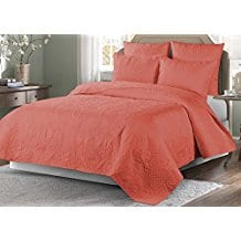 Elise-James-Home-Venice-Quilt-Coral Coral Bedding Sets and Comforters