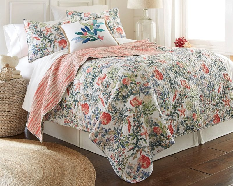 Elise-James-Home-Watercolor-Tropical-Quilt-800x639 Elise and James Bedding Sets