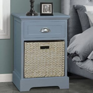 Fleming1DrawerNightstand Beach and Coastal Bedroom Furniture