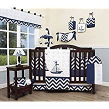 GEENNY-Baby-Nautical-Explorer-13-Piece-Nursery-Crib-Bedding-Set Beach and Nautical Crib Bedding