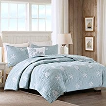 Harbor-House-Seaside-4-Piece-Coverlet-Set-FullQueen-Blue Seashell Bedding and Comforter Sets