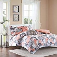 Intelligent-Design-Marie-Coral-Comforter-Set Coral Bedding Sets and Comforters