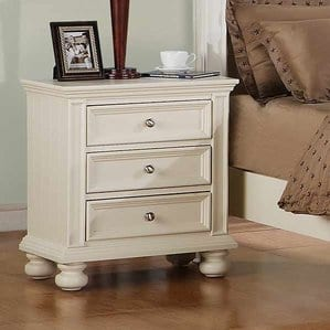 MiamiSprings3DrawerNightstand Beach and Coastal Bedroom Furniture