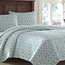 Tommy-Bahama-Catalina-Trellis-Harbor-Reversible-Quilt-King-Blue Tommy Bahama Bedding Sets