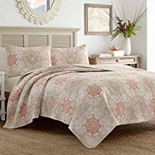Tommy-Bahama-Palm-Channel-Quilt-Set-King-Orange Tommy Bahama Bedding Sets