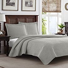 Tommy-Bahama-Pelican-Gray-Chevron-Quilt-Set Tommy Bahama Bedding Sets