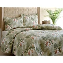 Tommy-Bahama-Topical-Orchid-Quilt-Set Tommy Bahama Bedding Sets