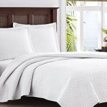Tommy-Bahama-White-Chevron-Quilt-Set-FullQueen-White Tommy Bahama Bedding Sets