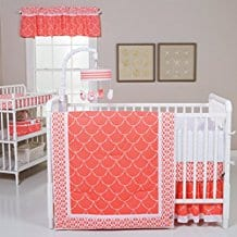 Trend-Lab-Shell-3-Piece-Crib-Bedding-Set-Coral Coral Bedding Sets and Comforters