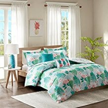 Tropicana-Comforter-Set-Aqua-Pineapple Pineapple Bedding Sets and Duvet Covers