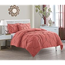 VCNY-Home-Carmen-Microfiber-4-Piece-Comforter-Set-Coral Coral Bedding Sets and Comforters