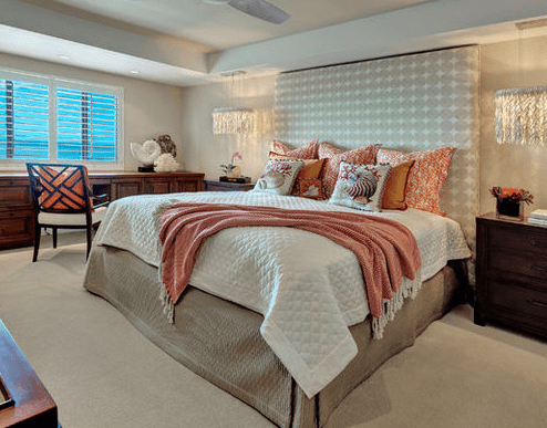 Vanderbilt-Beach-Renovation-by-Laura-Miller-Interior-Design Seashell Bedding and Comforter Sets