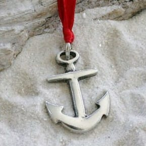 anchor-christmas-ornament Nautical and Beach Christmas Decorations