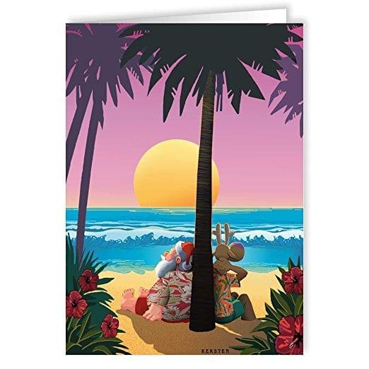 beach-christmas-cards Beach Christmas Decorations
