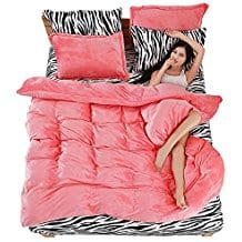 coral-zebra-duvet-cover Coral Bedding Sets and Comforters