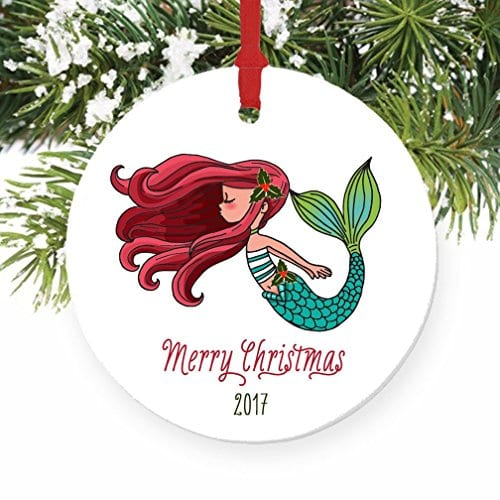 mermaid-christmas-ornament Nautical and Beach Christmas Decorations