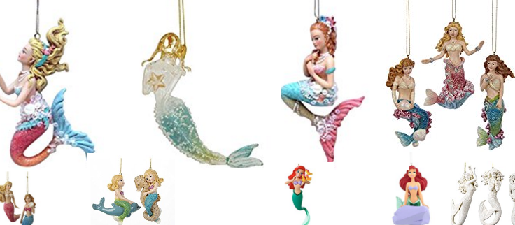 mermaid christmas ornaments