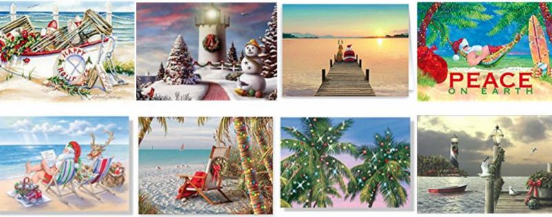 Beach Christmas Cards and Nautical Christmas Cards