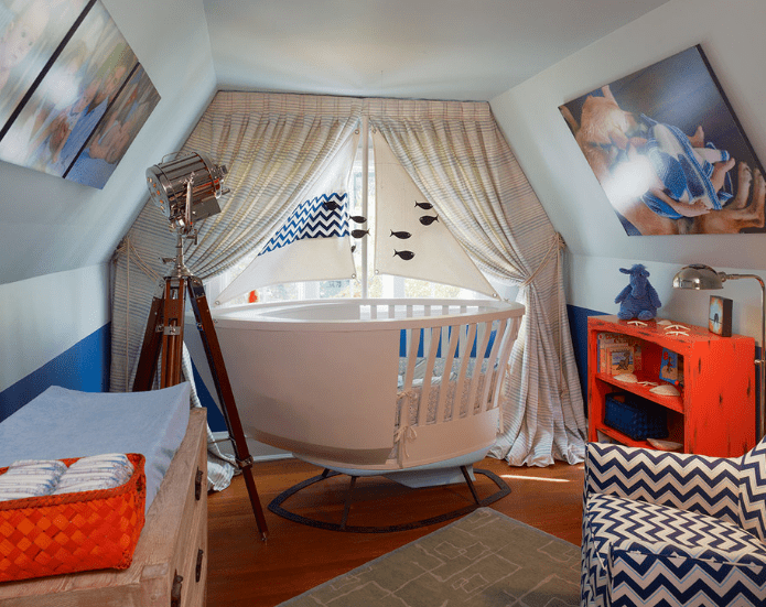 nautical-nursery Beach and Nautical Crib Bedding
