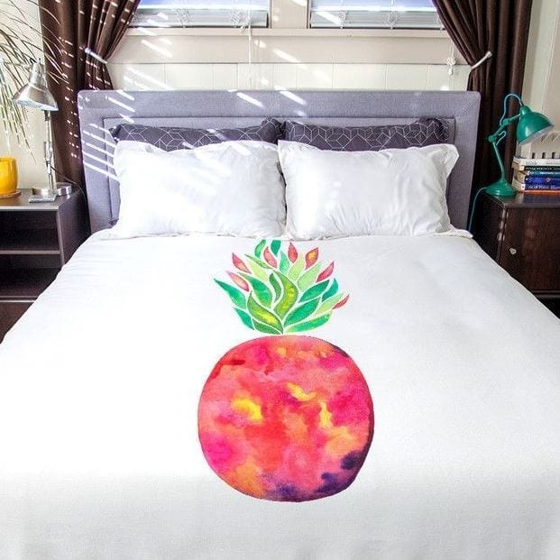 pineapple-flare-duvet-cover-set Pineapple Bedding Sets and Duvet Covers