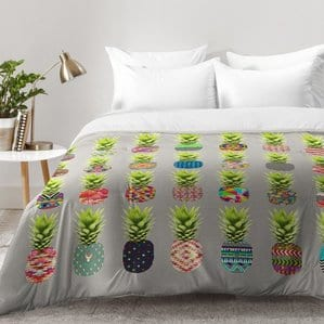 pineapple-party-comforter-set Pineapple Bedding Sets and Duvet Covers