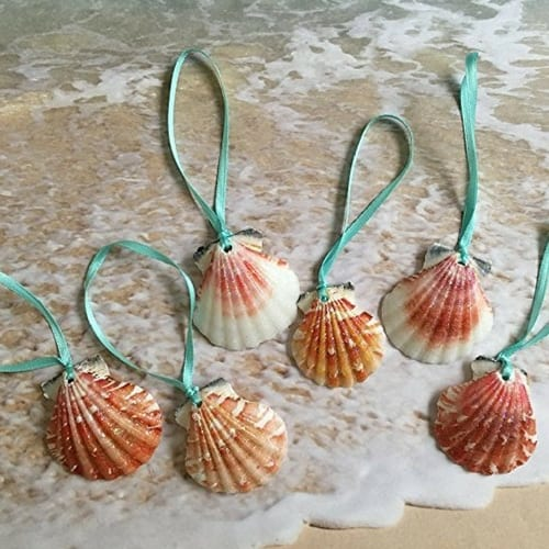 seashell-ornaments Nautical and Beach Christmas Decorations