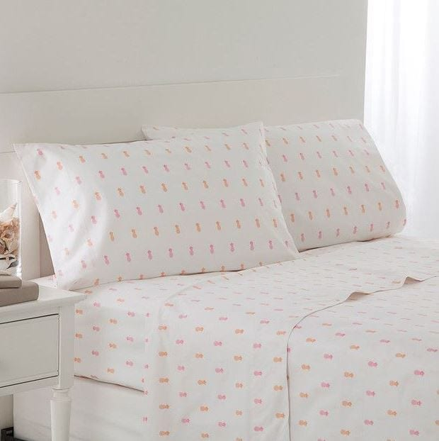 southern-tide-pineapple-sheet-set-pink-orange Pineapple Bedding Sets and Duvet Covers