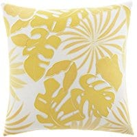 tommy-bahama-applique-palm-yellow-throw-pillow Tommy Bahama Bedding Sets