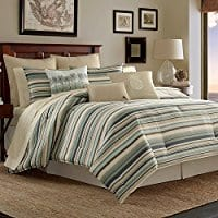 tommy-bahama-canvas-stripe-comforter-set Tommy Bahama Bedding Sets