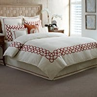 tommy-bahama-trellis-crimson-duvet-cover Tommy Bahama Bedding Sets