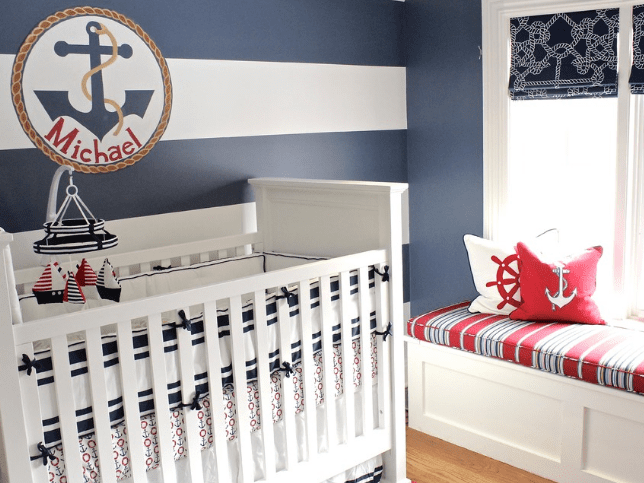 tudor-with-southern-flair-nautical-nursery Beach and Nautical Crib Bedding