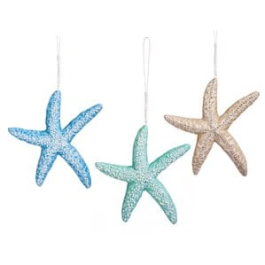 3PieceStarfishFoamShapedOrnamentSetSetof3 Amazing Starfish Christmas Ornaments