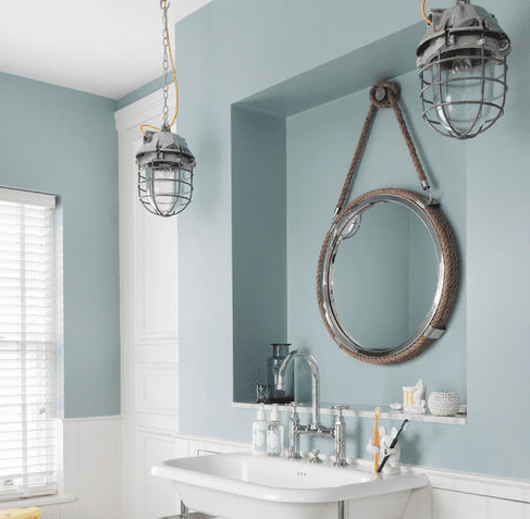 Family-Residence-by-Oliver-Burns Beach And Nautical Bathroom Lighting