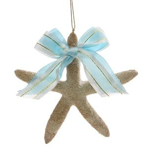 SeasandGreetingsStarfishwithBowTreeOrnament Amazing Starfish Christmas Ornaments