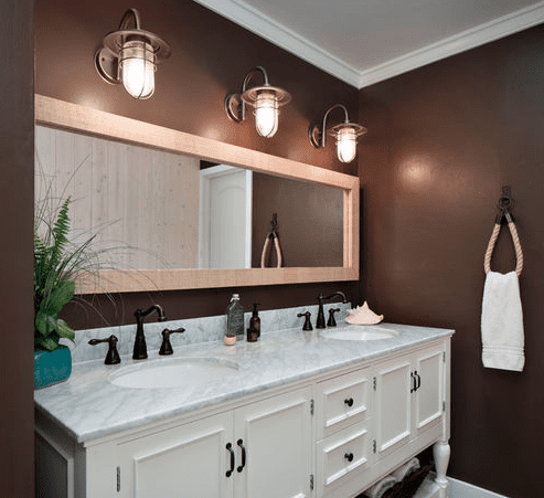 Beach And Nautical Bathroom Lighting - Beachfront Decor
