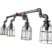 Wall-Sconce-Industrial-Lighting-w-Cages Beach And Nautical Bathroom Lighting