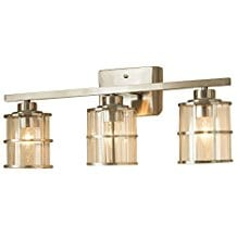 Allen And Roth Brushed Nickel Nautical Bathroom Lighting Beach