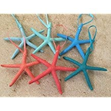 caribbean-color-variety-starfish-ornaments Amazing Starfish Christmas Ornaments