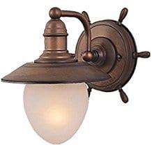 vaxcel-shipwheel-nautical-1-light-wall-light Beach And Nautical Bathroom Lighting