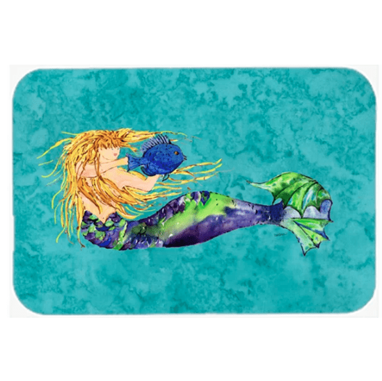 Blonde-Mermaid-KitchenBath-Mat Mermaid Home Decor