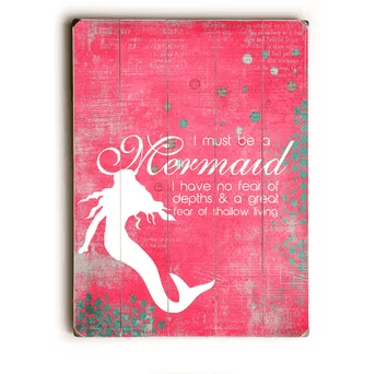 I-Must-Be-a-Mermaid-Wall-Décor Mermaid Home Decor