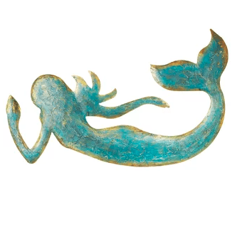 Mermaid-Blue-Wall-Decor Mermaid Home Decor