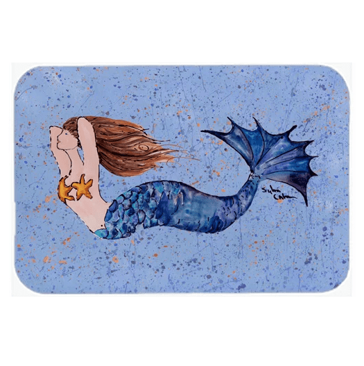 Mermaid-Kitchen-Bath-Mat Mermaid Home Decor