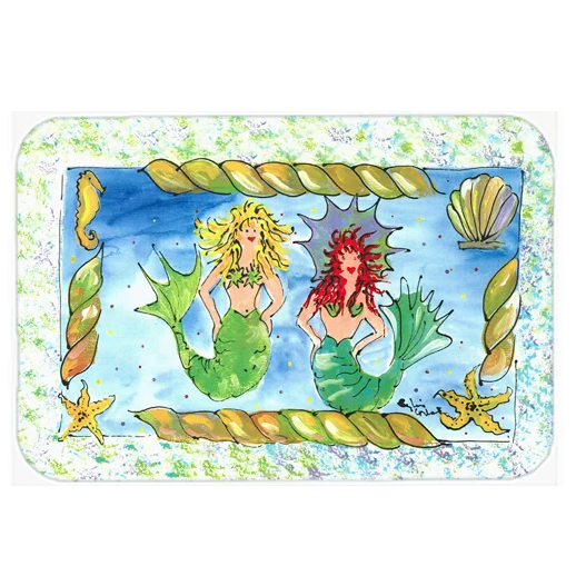 carolines-treasures-Mermaid-KitchenBath-Mat Mermaid Home Decor
