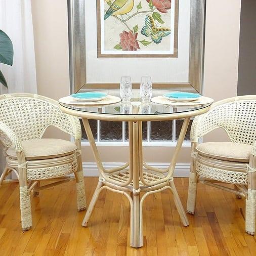 3-piece-pelangi-rattan-wicker-dining-set Best White Wicker Furniture