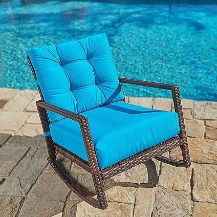 all-weather-brown-wicker-rocking-chair Best White Wicker Furniture