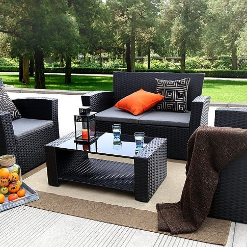 baner-garden-4-piece-wicker-furniture-set Best Outdoor Wicker Patio Furniture